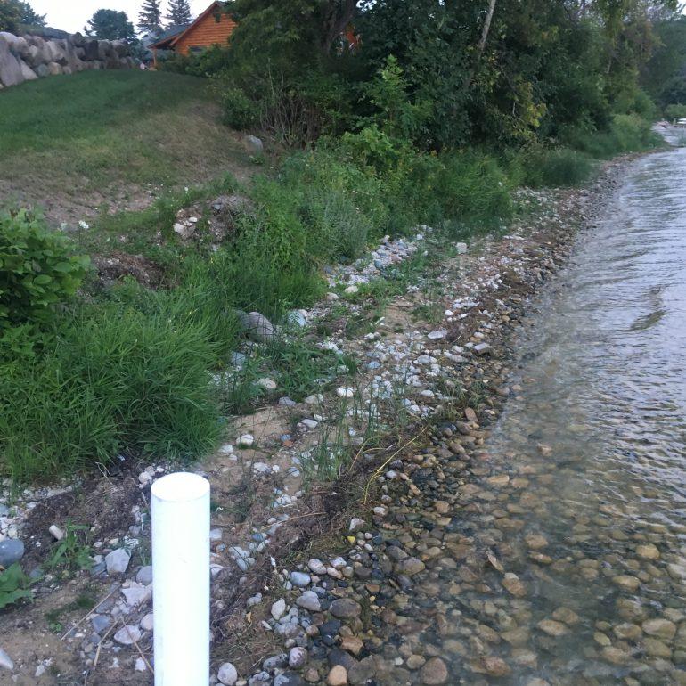 Shoreline Erosion - Bank undercut and washed out