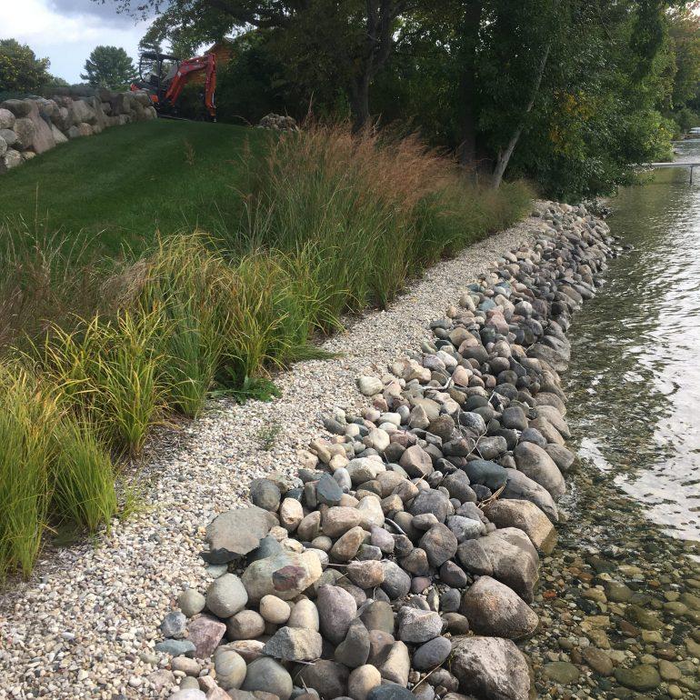 Shoreline protection and buffer garden